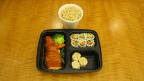 Teriyaki bento box, salmon