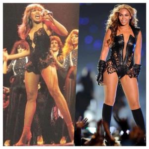 Bey isn't the first female star to embrace the no pants on stage look