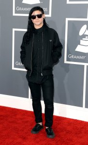 Skrillex in his 90s grunge look