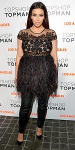 Kim Kardashian in her version of maternity wear