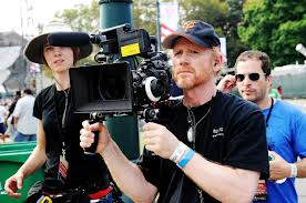 Ron Howard filming footage at Made in America 2012