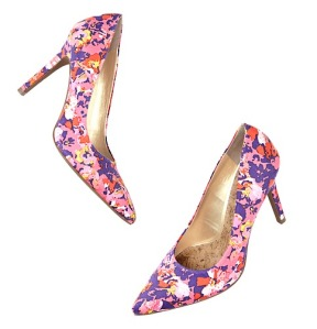 Petra Multicolored Floral Print PumpsLoft, $79.50