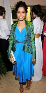 Freida Pinto at Maiyet Varanasi Silk Capsule Collection Dinner