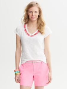Beaded Necklace Top, $45