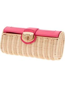 Patent Wicker Clutch, $120