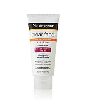 Clear Face Sunscreen Neutrogena, $10.49