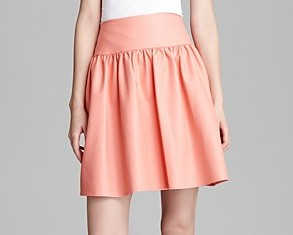 Pleated Faux Leather Skirt French Connection $148