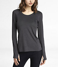 Long Sleeve Cut-out Tee, $34.90