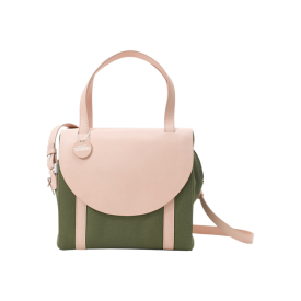 Half-circle Satchel in Canvas and Natural Leather Kate Spade Saturday, $160